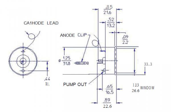 美国盖革管,进口盖格计数器,盖革管现货,pm2.5用盖革管