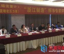 """《电磁流量计》""""浙江制造""""团体标准通过评审"""