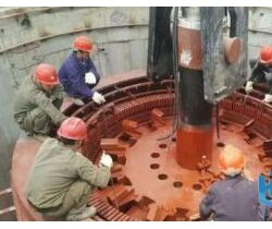 麻窝火力发电首台联合机变压器吊装瓜熟蒂落