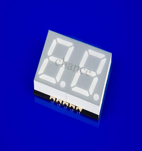 优质数码管供应商,0.4英寸贴片数码管,二位蓝光数码管。 LED数码管特性 贴片led数码管厂家 GS4020AB-G 0.4英寸2位贴片式数码管 蓝光/蓝色 1、发光颜色:可定制 2、外形尺寸:18.8153.75mm 3、极性:共阴/阳极 4、表面颜色:黑/灰面板  能在低电压、小电流条件下驱动发光  发光响应时间极短(<0.