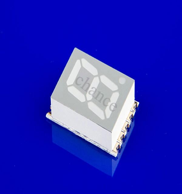 LED发光数码管,0.56英寸单八贴片数码管,长圣供应 1、贴片数码管工厂 0.56英寸贴片数码管一位 红光超高亮共阳 2、发光颜色:红色;黄色;黄绿色;橙色;蓝色;翠绿色;白色 3、外形尺寸:12.4193.75mm 4、极性:共阴极/共阳极 5、表面颜色:黑面板/灰面板 一:.使用条件:(推荐恒流使用,恒压会出现亮度不均现象.