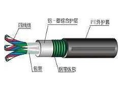 铁路信号电缆PTYA22钢带铠装结构