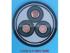 矿用高压电力电缆MYJV22-8.7/10kv