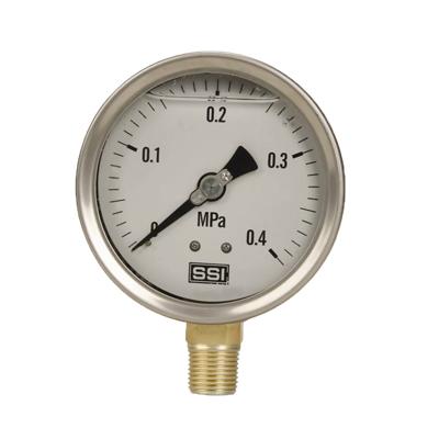 Y-100A  半钢压力表