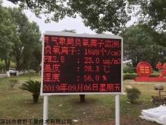 BYQL-FY 广州公园负氧离子监测系统,传输多个全彩屏展示