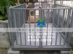 SCS 养殖场猪笼秤,5T猪笼地磅秤,带围栏牲畜秤