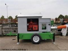 抗洪防汛12寸防雨型移動柴油泵車